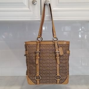 Coach Patent Leather Mini C EW Gallery LARGE Tote